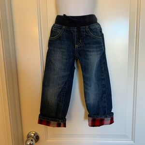 Gymboree Jeans with plaid cuffs